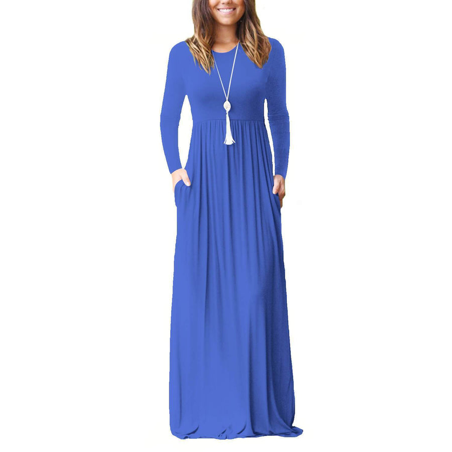 Casual Pockets Maxi Dress