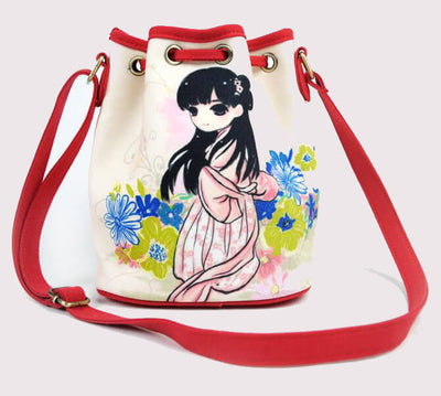 Chinese style Printed canvas crossbody bags
