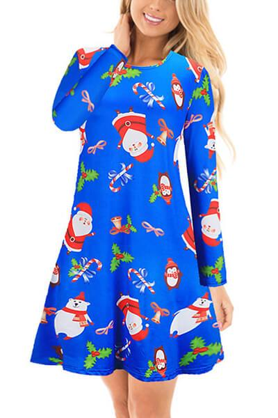 Christmas Flared Swing Dress