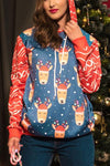 Christmas Pattern Print Hoodies
