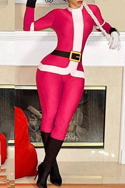 Christmas Round Neck Suit With Hat