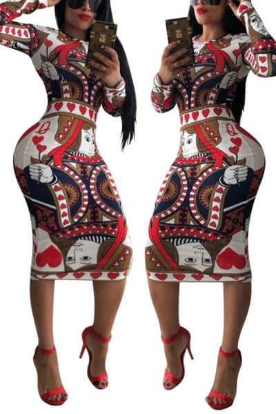 Clubwear Sexy Printing Bodycon Dress