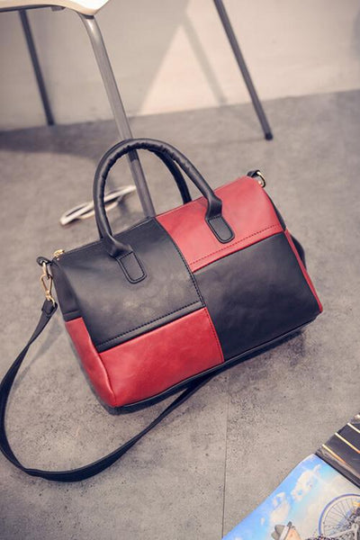 Color Block Boston Bag