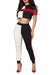 Color Block Crop Top and Pants Set