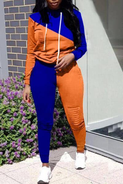 Color Block Splicing Sports Jumpsuit