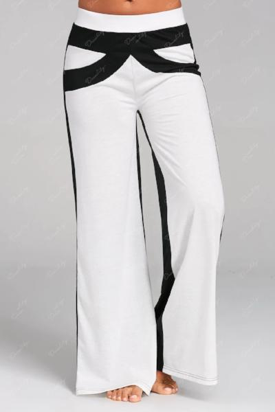 Color Block Wide Legged Pants