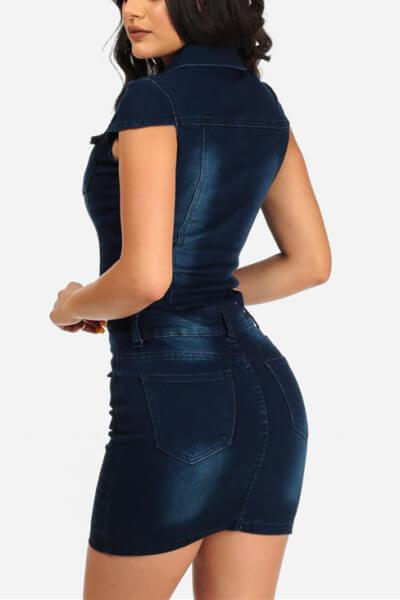 Denim Tight Sleeveless Dress