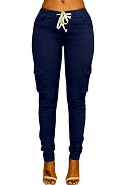 Drawstring Casual Slim Fit Pants