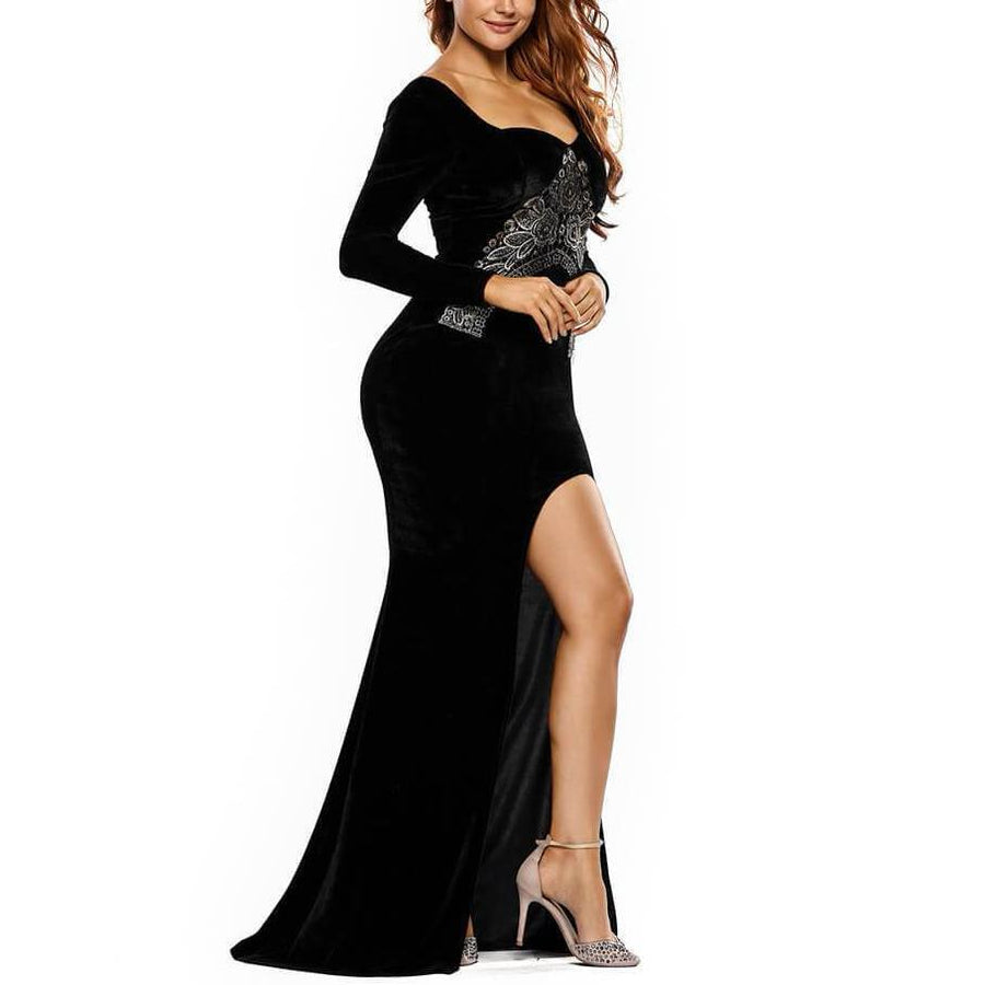 Elegant Package Hip Party Sexy Split Dress
