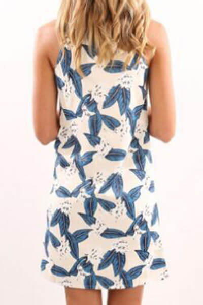 Euramerican Printed Mini Dress