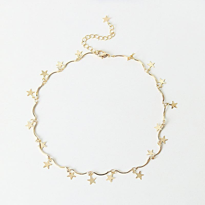 Five Stars Choker Necklace