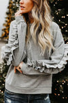 Frill Sleeve Sweat Top