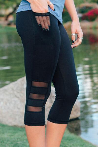 Grenadine High-waisted Leggings With Pockets
