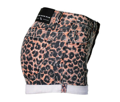 High Rise Sexy Leopard Printed Elastic Shorts