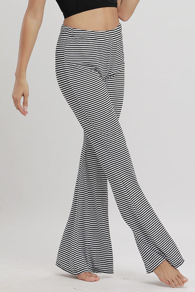 High Rise Striped Flared Pants