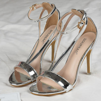 High Stiletto Pump Heeled Sandals