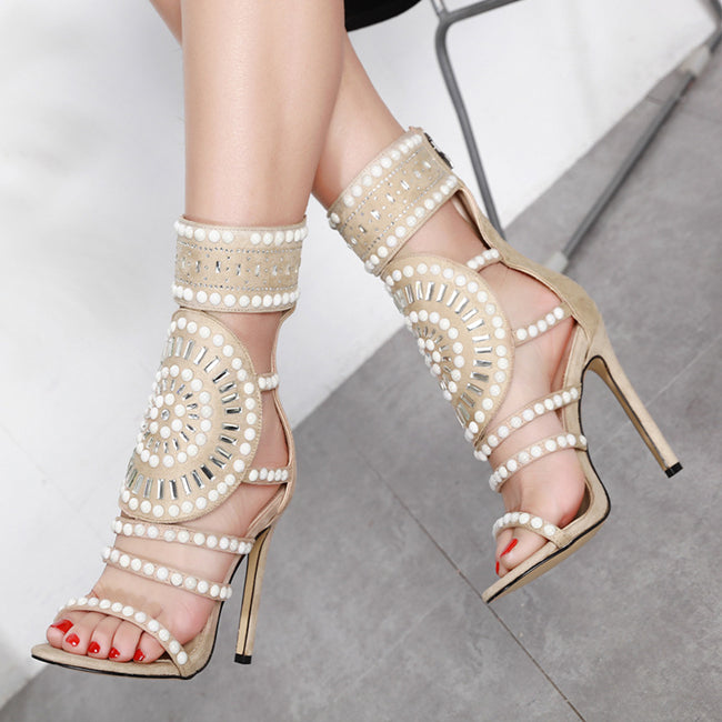 Hollow Diamond High Heel Rome Shoes