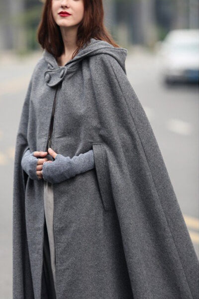 Lacing-Hooded-Longer-Cape-Jumpsuit