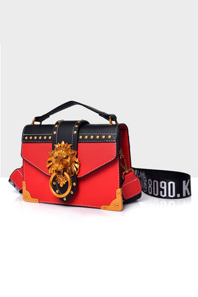 Lion Shoulder Bag With Detachable Strap