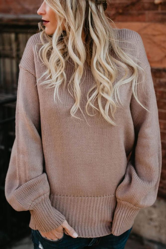 Loose Ends Tie Sweater