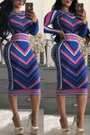Multicolored-Sexy-Print-Dress