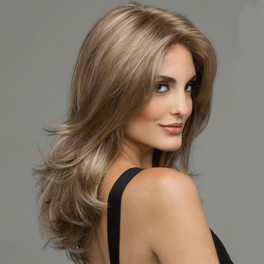 Noble Glossy Sexy Natural Wavy Capless Heat-Resistant Synthetic Wig For Women