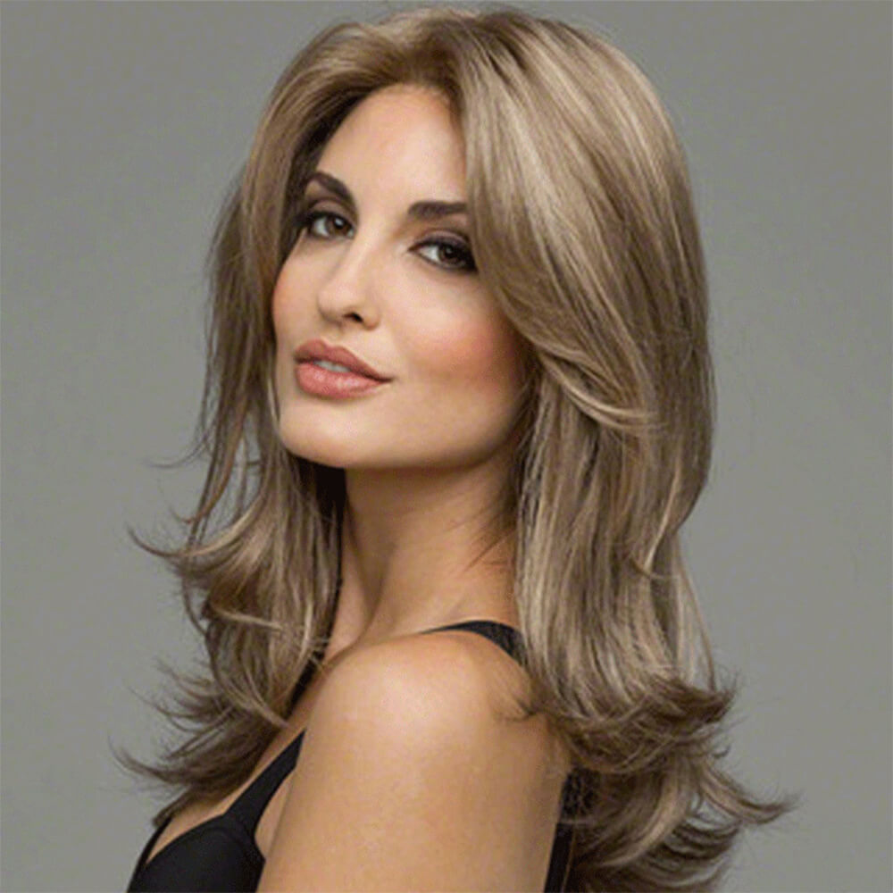 46fe91b5a Noble Glossy Sexy Natural Wavy Capless Heat-Resistant Synthetic Wig For  Women