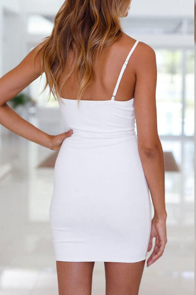 Deep Plunging Neckline Dress