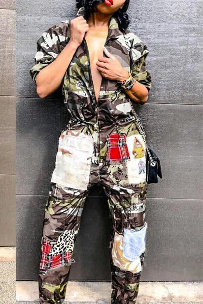 Patchwork-Camouflage-Printed-Jumpsuit