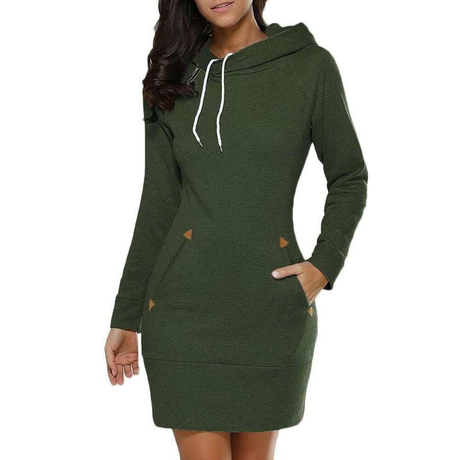 Pockets Hoodie Dress