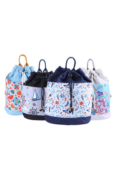 Printed fashion canvas Double-shoulder backpacks