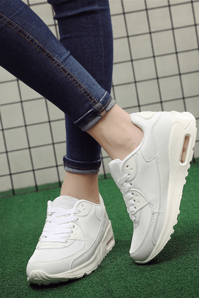 Men Women Running Shoes Breathable Lace Up Sneakers