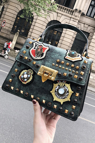 Rivet Badge Portable Bag