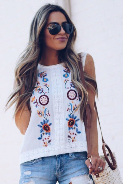 10d42709be33d8 Round Neck Embroidery Vests - ICONHUNT
