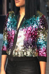 Sequined Casual Jacket