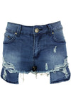 Skinny Denim Low-Waist Women's Shorts