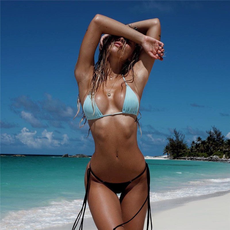 Strappy Backless Bikini Swimwear