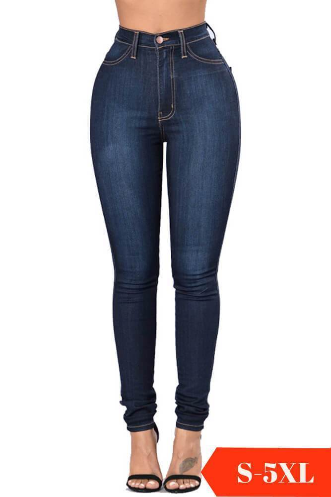 Stretchy Classic High Waist Skinny Jeans