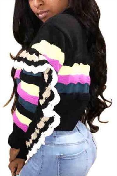 Striped-Knit-Ruffles-Long-Sleeve-Sweater