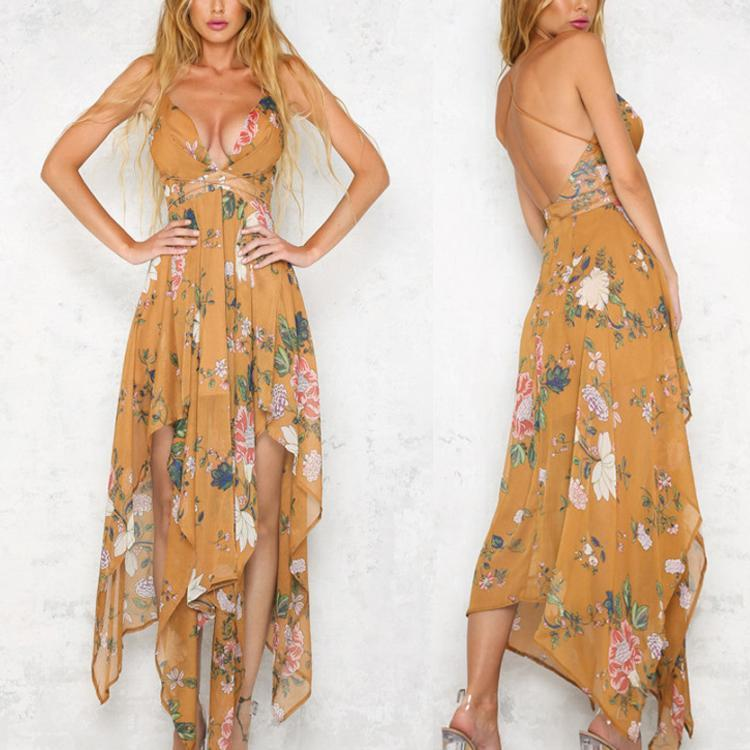 Summer Maxi Women Floral Print Dress