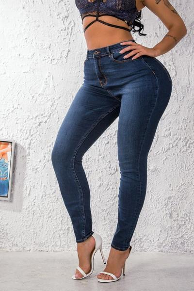 High Rise Jeans-Blue