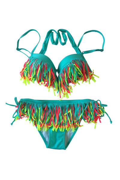 Tassel Catch The Wind Bikini Set
