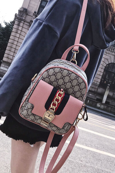 Three color Fashion Mini Backpack