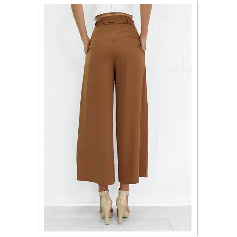 Tied Wide Leg Pants