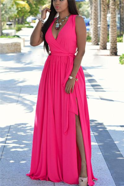 Boho Long Sleeveless Ladies Holiday Summer Beach Sundress