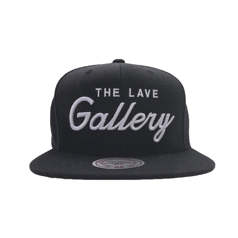 "The Lave Gallery x Mitchell & Ness ""Draft Day"" Snapback : Blk/Silver"