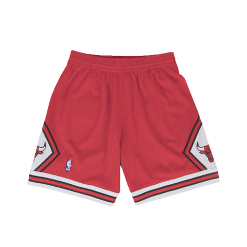 NBA Swingman Shorts : Bulls (Red)