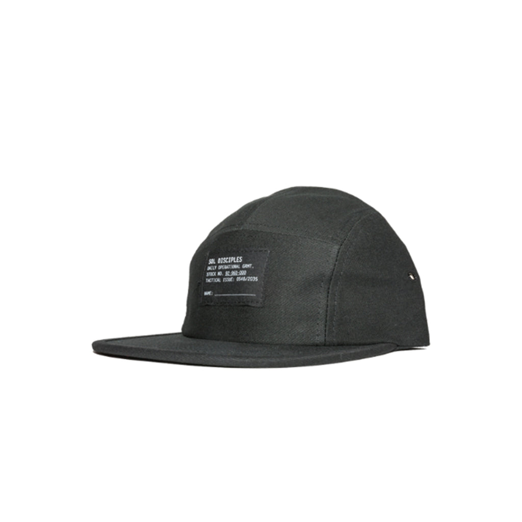 Surplus 5-Panel Cap : Black