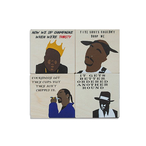Rappers Coaster Set : Set of 4