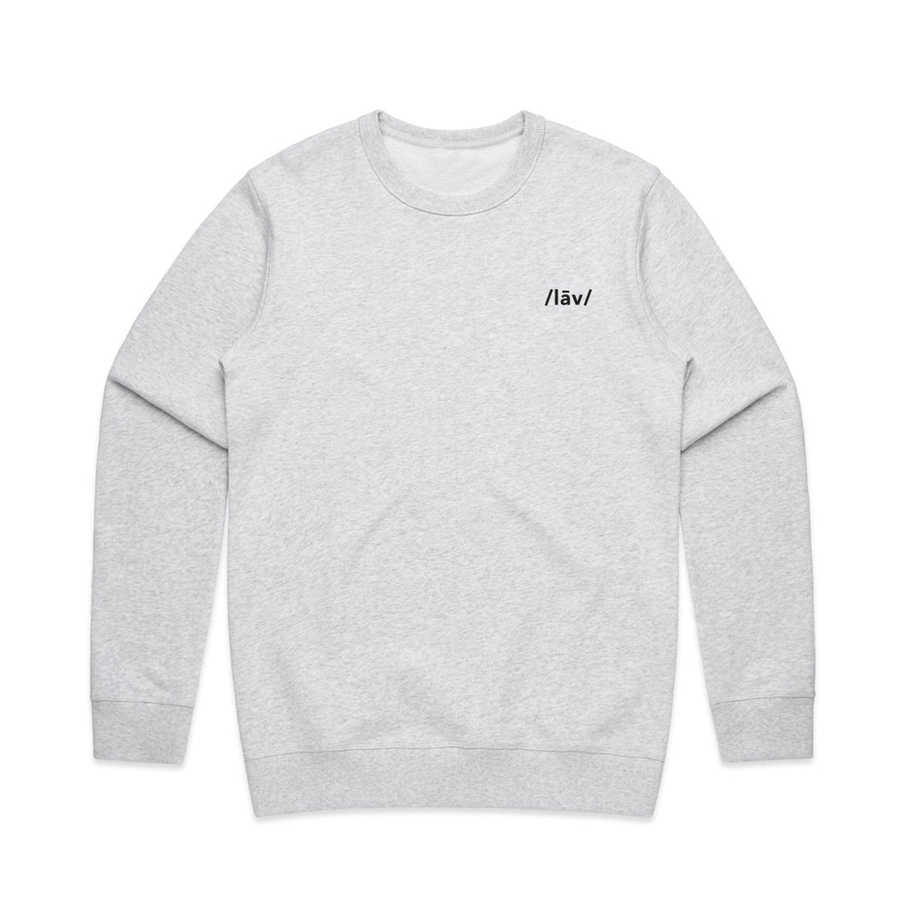 Kroo Crewneck Sweater : Heather White